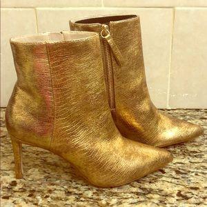 Gold Zara Booties